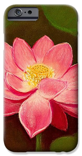 Buddhism Pastels iPhone Cases - Lotus Flower iPhone Case by Anastasiya Malakhova