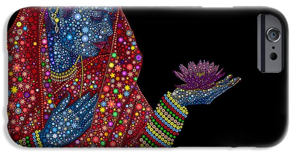 Belief iPhone Cases - Lotus Girl iPhone Case by Tim Gainey