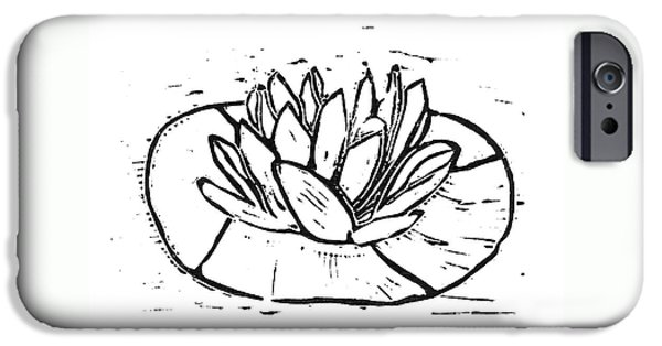 Petals Reliefs iPhone Cases - Lotus iPhone Case by Lynn-Marie Gildersleeve