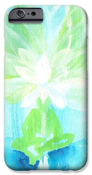 Dream Scape iPhone Cases - Lotus Petals Awakening Spirit iPhone Case by Ashleigh Dyan Bayer