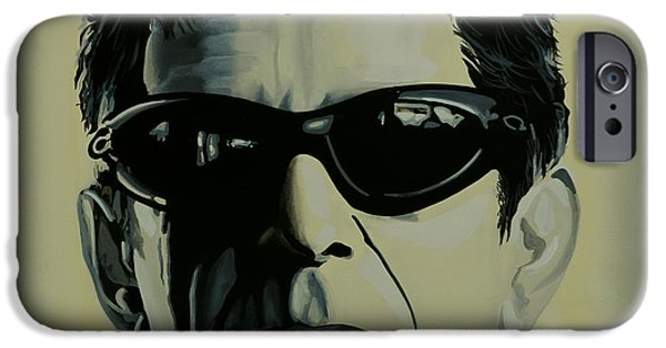 Singer-songwriter iPhone Cases - Lou Reed iPhone Case by Paul  Meijering