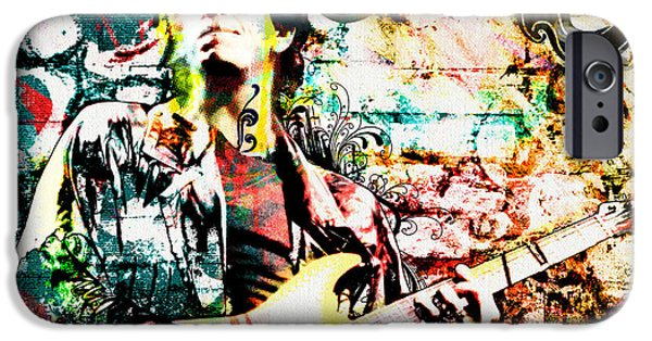Man Cave Mixed Media iPhone Cases - Lou Reed - Velvet Underground Original Painting Print iPhone Case by Ryan RockChromatic