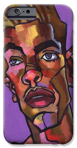 Shower Head iPhone Cases - Louie After His Shower iPhone Case by Douglas Simonson