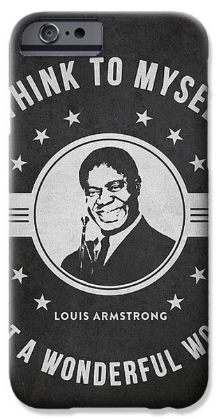 Wonderful iPhone Cases - Louis Armstrong - Dark iPhone Case by Aged Pixel