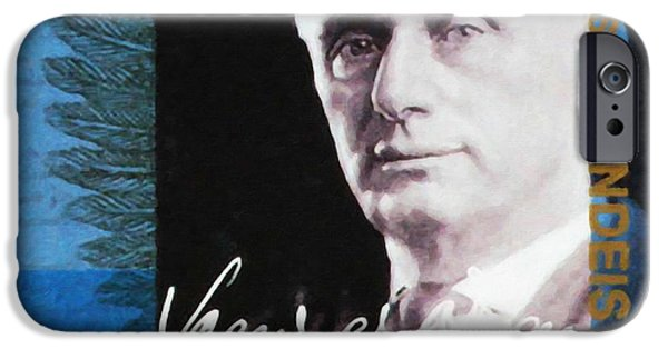 Abolition Paintings iPhone Cases - Louis D Brandeis iPhone Case by Lanjee Chee
