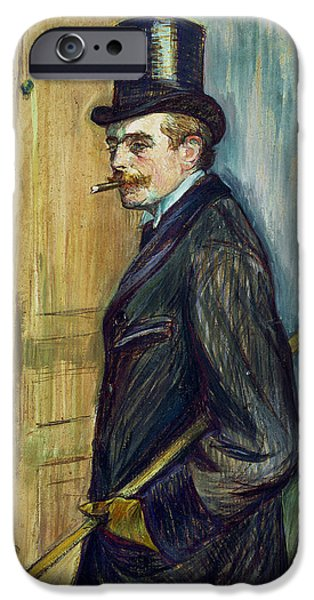 Three-quarter Length iPhone Cases - Louis Pascal iPhone Case by Henri de Toulouse-Lautrec