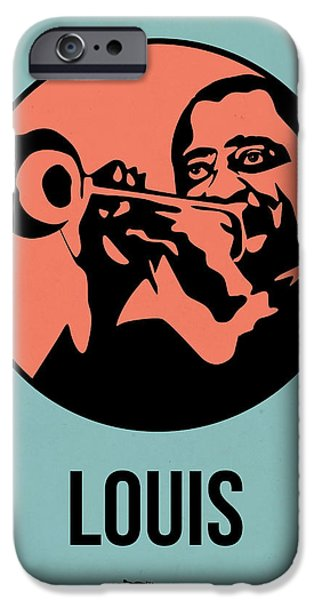 Icon Mixed Media iPhone Cases - Louis Poster 1 iPhone Case by Naxart Studio
