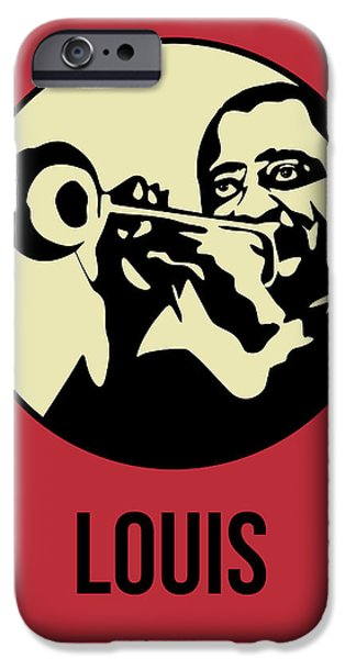Icon Mixed Media iPhone Cases - Louis Poster 2 iPhone Case by Naxart Studio