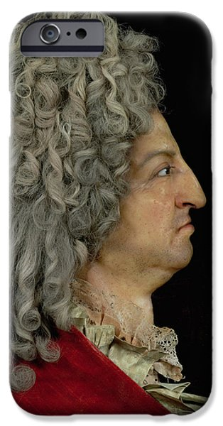 Model iPhone Cases - Louis Xiv 1638-1715 1706 Mixed Media iPhone Case by or Benoit du Cercle, Antoine Benoist