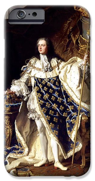 Concept Paintings iPhone Cases - Louis XV iPhone Case by Riguad