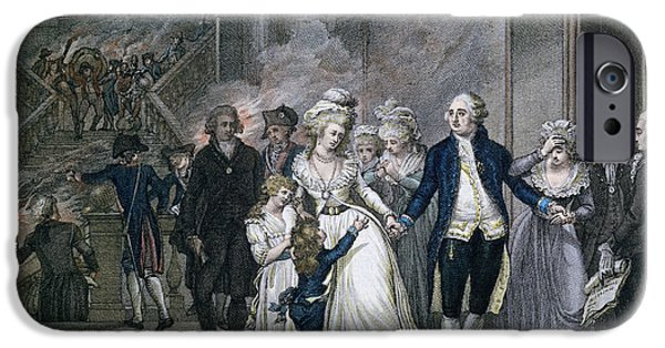 Arrest iPhone Cases - Louis Xvi 1754-93 Bidding Farewell To His Family, 20th January 1793, Engraved By Reinier Vinkeles iPhone Case by French School