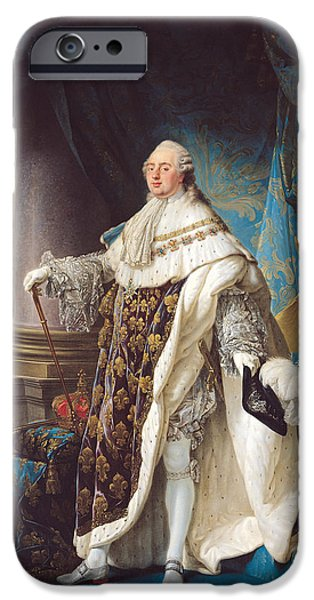 Crown iPhone Cases - Louis Xvi 1754-93 Oil On Canvas iPhone Case by Antoine Francois Callet