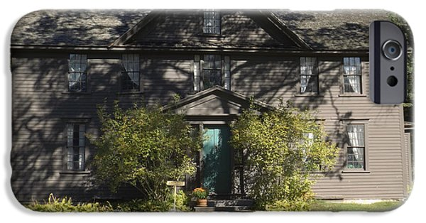 Louisa May Alcott iPhone Cases - Louisa May Alcott Orchard House in Concord Massachusetts 1 iPhone Case by James Turnbull