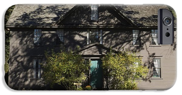 Louisa May Alcott iPhone Cases - Louisa May Alcott Orchard House in Concord Massachusetts 2 iPhone Case by James Turnbull
