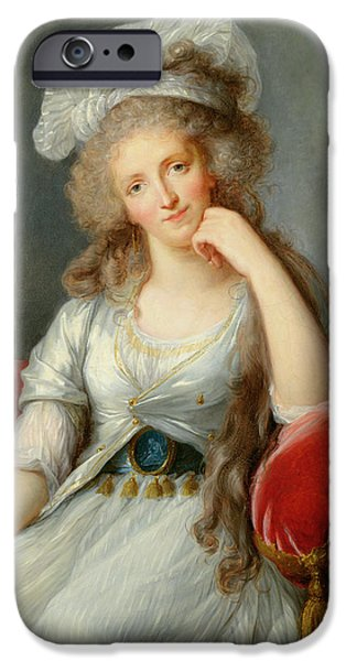 Duchess Photographs iPhone Cases - Louise-marie Adelaide, Duchesse Dorleans Oil On Canvas See Also 91622 iPhone Case by Elisabeth Louise Vigee-Lebrun