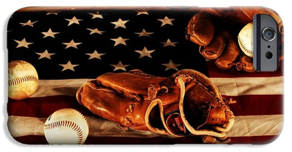 Baseball Glove iPhone Cases - Louisville Slugger iPhone Case by Dan Sproul