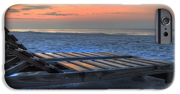 Micdesigns iPhone Cases - Lounge Closeup on Beach ... iPhone Case by Michael Thomas