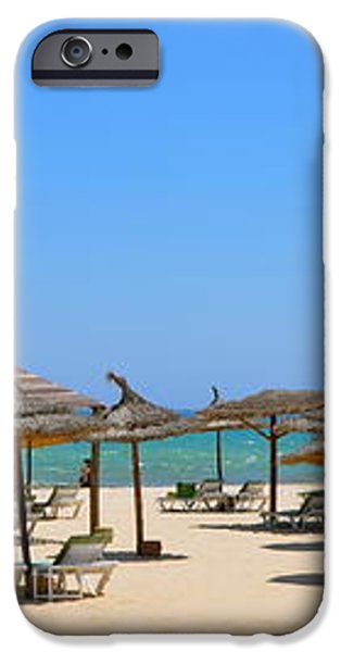 Lounging at the Beach iPhone Case by Corinne Rhode