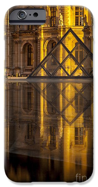 Louvre Sunset iPhone Case by Brian Jannsen