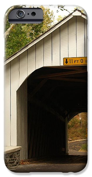 Loux Bridge and Sharp Left - Bucks County  iPhone Case by Anna Lisa Yoder