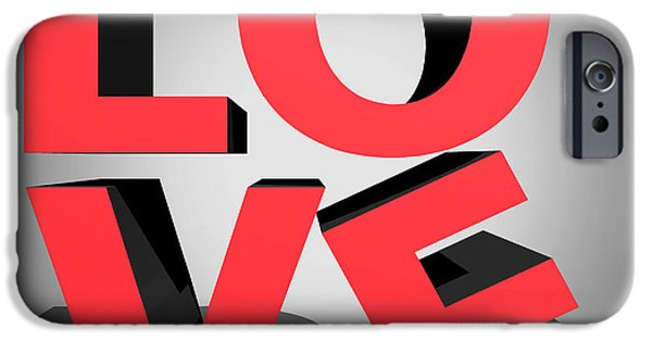 Wall Art Greeting Cards Digital Art iPhone Cases - Love 2 iPhone Case by Mark Ashkenazi