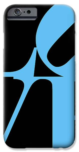 LOVE 20130707 Blue Black iPhone Case by Wingsdomain Art and Photography
