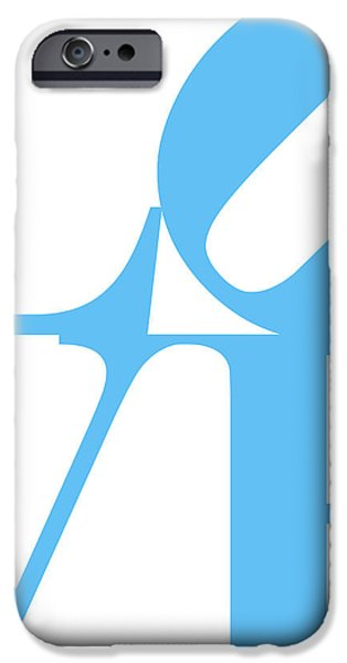 LOVE 20130707 Blue White iPhone Case by Wingsdomain Art and Photography