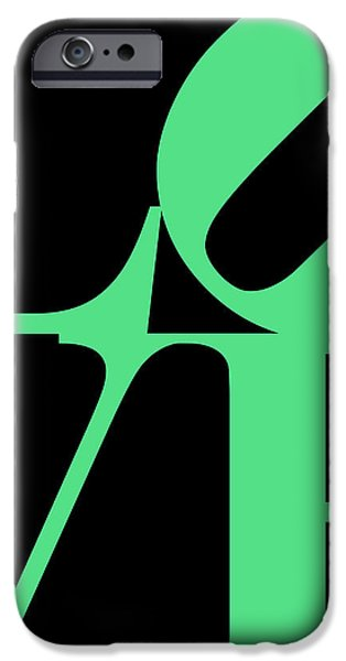 LOVE 20130707 Green Black iPhone Case by Wingsdomain Art and Photography