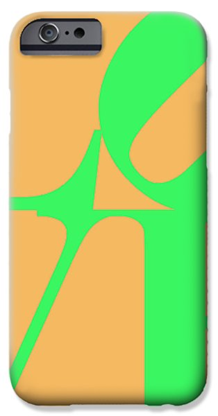LOVE 20130707 Green Orange iPhone Case by Wingsdomain Art and Photography