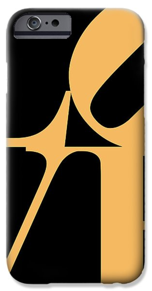 LOVE 20130707 Orange Black iPhone Case by Wingsdomain Art and Photography