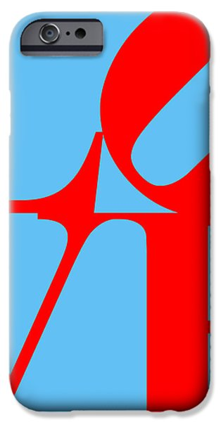 LOVE 20130707 Red Blue iPhone Case by Wingsdomain Art and Photography