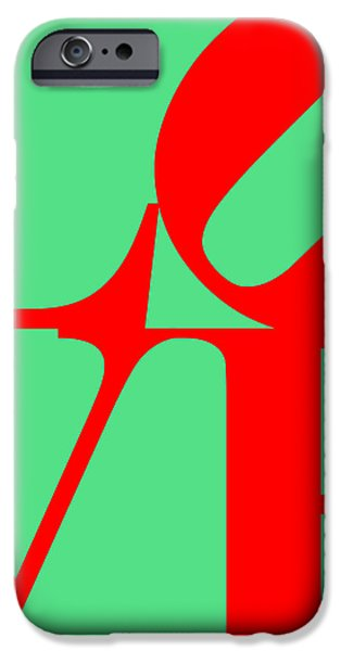 LOVE 20130707 Red Green iPhone Case by Wingsdomain Art and Photography