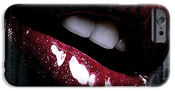 Lips Mixed Media iPhone Cases - Love Affair iPhone Case by Melissa Smith