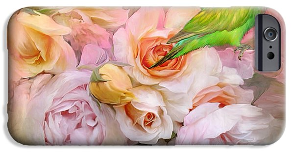 Love The Animal iPhone Cases - Love Among The Roses iPhone Case by Carol Cavalaris