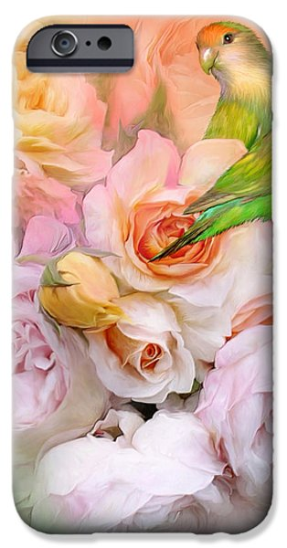 Love Among The Roses iPhone Case by Carol Cavalaris