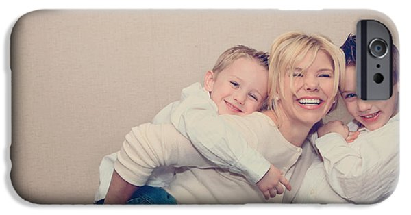 Little Boy iPhone Cases - Love and Laughter iPhone Case by Laurie Search