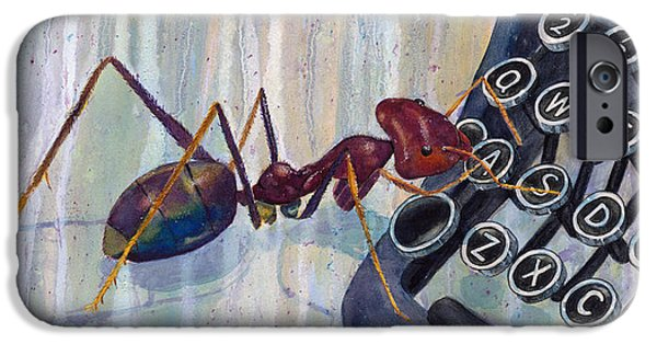 Alphabet Learning iPhone Cases - Love Ant Mary iPhone Case by Marie Stone Van Vuuren