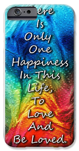 Lesbian Paintings iPhone Cases - Love Art - To Be Loved - By Sharon Cummings iPhone Case by Sharon Cummings