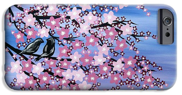 Catherine White Paintings iPhone Cases - Love at Dusk iPhone Case by Cathy Jacobs