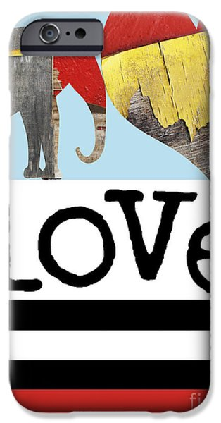 Surtex Licensing iPhone Cases - LOVE BIG - Elephant Heart Typography Print iPhone Case by Anahi DeCanio