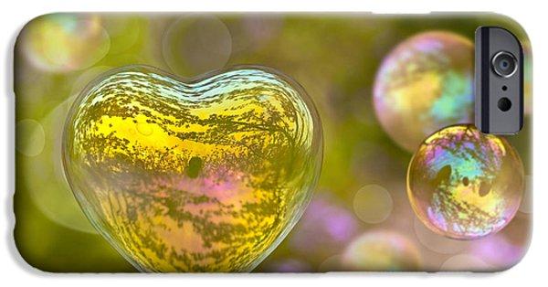 Concept Digital iPhone Cases - Love bubble iPhone Case by Delphimages Photo Creations