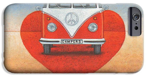 Freedom iPhone Cases - Love Campers iPhone Case by Peter Adderley