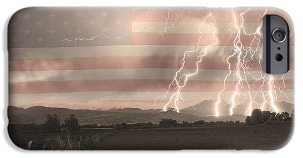 James Bo Insogna iPhone Cases - Love For Country iPhone Case by James BO  Insogna