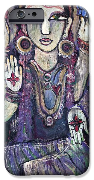 Parvati Paintings iPhone Cases - Love for Parvati iPhone Case by Laurie Maves