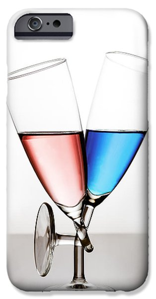 Wine Reflection Art iPhone Cases - Love iPhone Case by Gert Lavsen