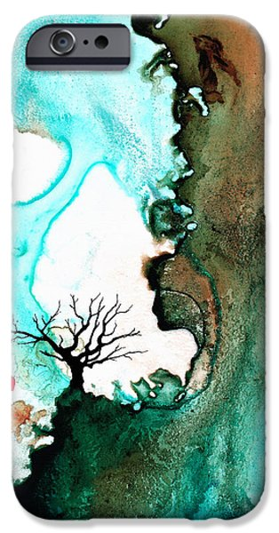 Tree Art Print Mixed Media iPhone Cases - Love Has No Fear - Art By Sharon Cummings iPhone Case by Sharon Cummings