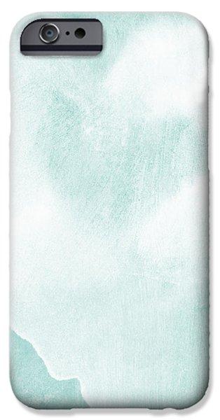 Love in Aqua iPhone Case by Linda Woods