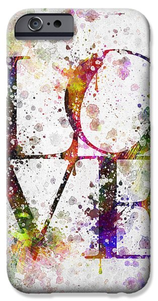 Slash iPhone Cases - Love in Color iPhone Case by Aged Pixel