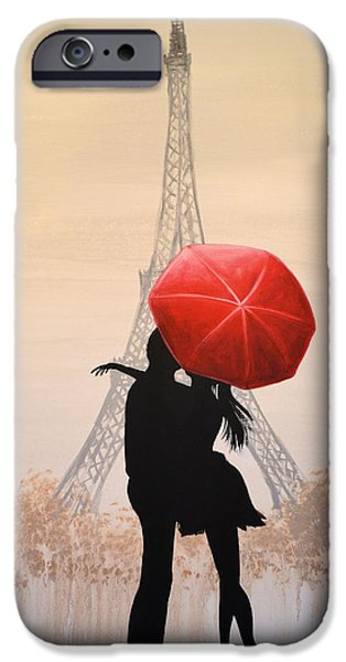 Couple iPhone Cases - Love In Paris iPhone Case by Amy Giacomelli