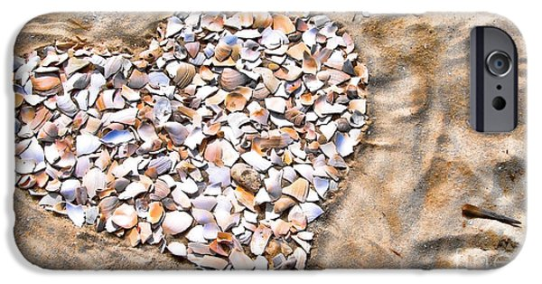Original Photography iPhone Cases - Love in the Sand iPhone Case by Colleen Kammerer